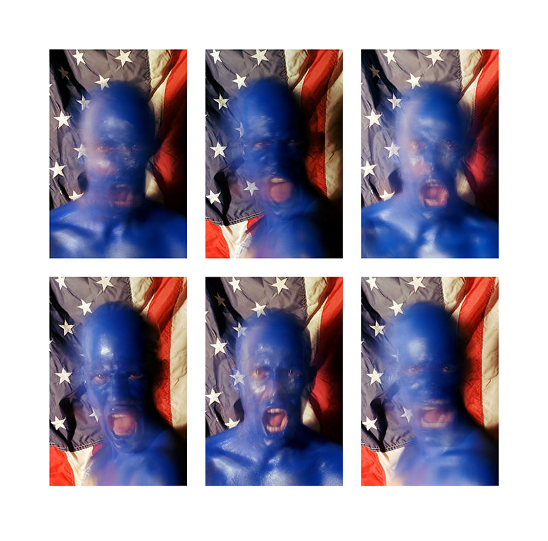 Blue Red States, 1993, reedited 2013, diptych, color digital print, 44 x 44.5