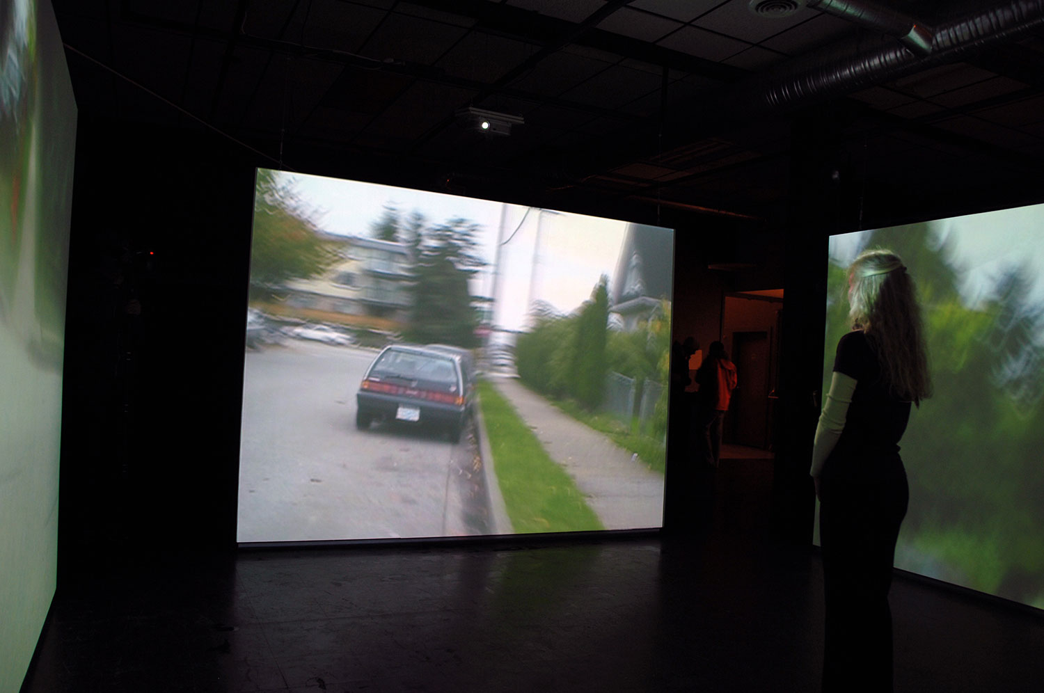 Chance: Vancouver, Canada, 2007, video installation, four-channel<br><br>Go to menu, click VIDEOS, to watch excerpts<br><br>Chance puts me at the center of psychogeography as I perambulate through cities directed by viewers' die rolls.